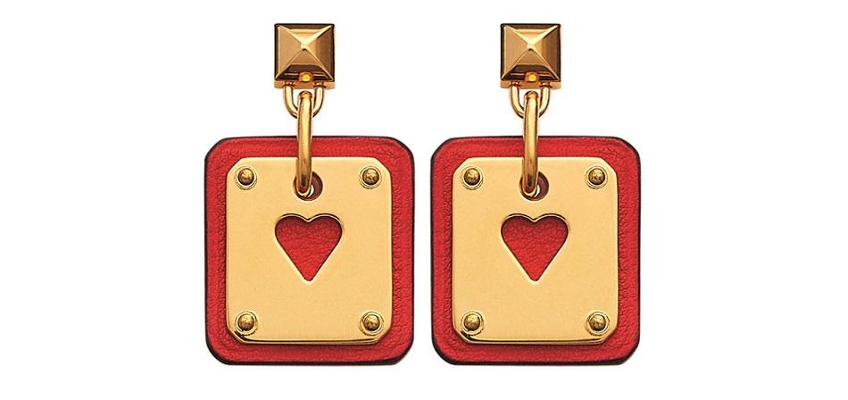 Earrings in Swift calfskin and gold metal - SS21 Objets - Hermes  Studio des Fleurs.jpg