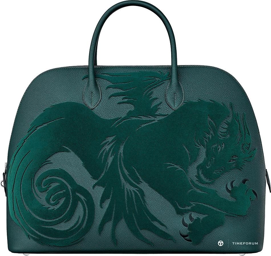 8. Bolide 1923 chimeres dragon travel bag in Togo calfskin.jpg