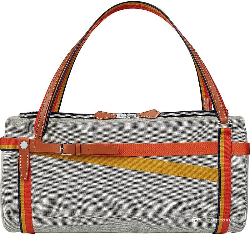 14. Hermes bridleback weekend bag in toile H and hunter cowhide.jpg