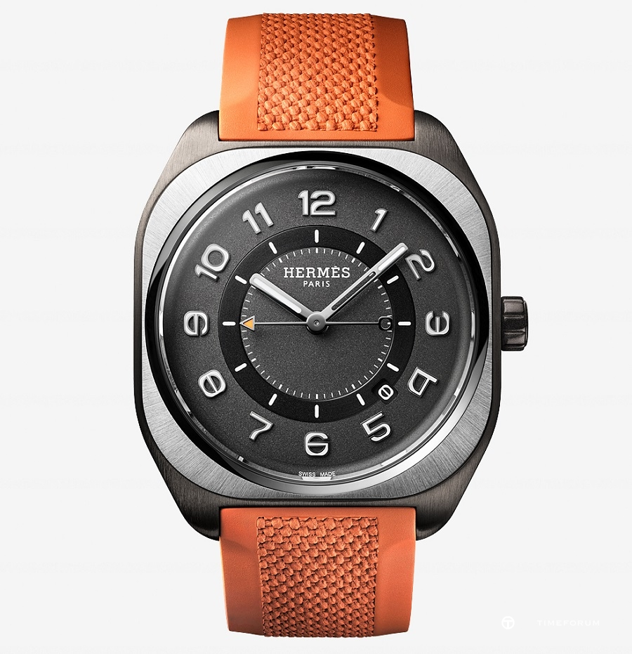 HERMES H08_Titanium and DLC_orange strap_짤JoelVonAllmen.jpg