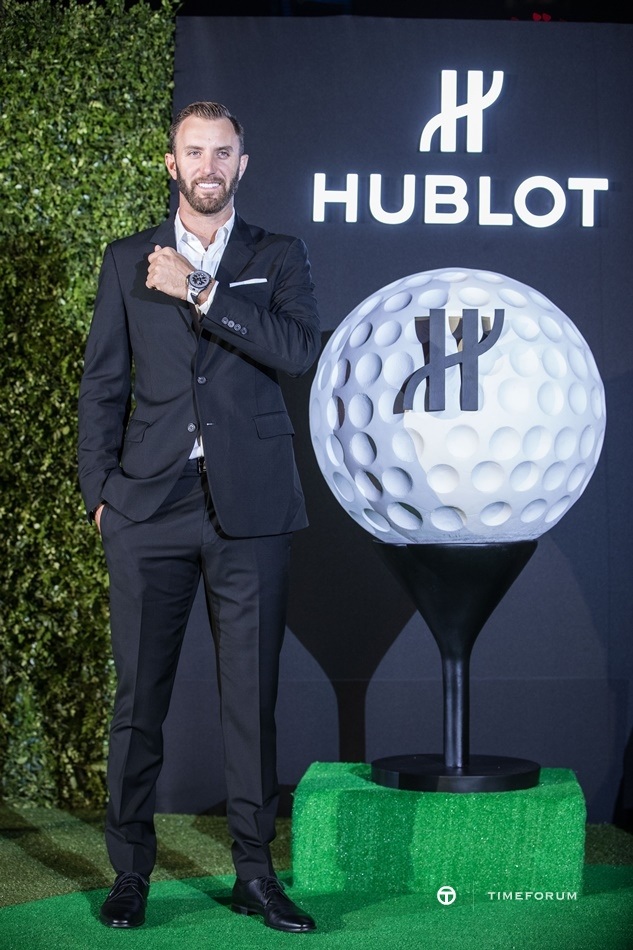 Dustin Johnson wearing the Big Bang Unico Golf.jpg