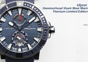 Ulysse Nardin Hammerhead Shark Maxi Marine Diver Titanium Limited Edition Watch 리뷰