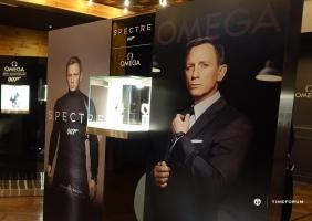 오메가 '007 스펙터' 개봉 기념 제임스 본드 시계 특별 전시회