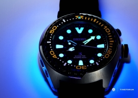 세이코 키네틱 GMT 다이버 SUN021
